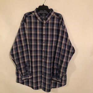 Roundtree & Yorke Casuals Men's Plaid Shirt 3XT